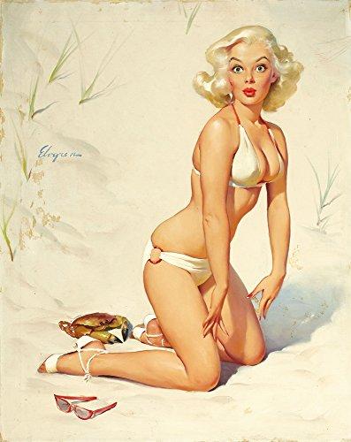 (Berkin Arts Gil Elvgren Giclee Art Paper Print Art Works Paintings Poster Reproduction(Pin Up Girls 54))