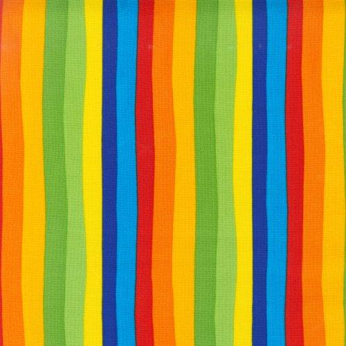 (Robert Kaufman DI-506 Celebrate Seuss Squiggle Stripe Fabric by The Yard, Multi)