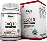 CoQ10 100mg, 120 Coenzyme Q10 Capsules by Nu U Nutrition