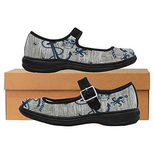 InterestPrint Womens Comfort Mary Jane Flats Casual Walking Shoes Multi 5 FgtuvG