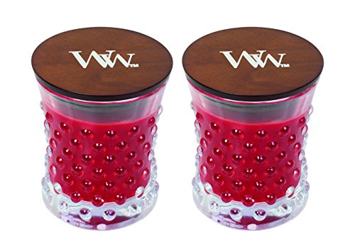 WoodWick Vintage Hobnail Candle Set - Crimson Berries ()