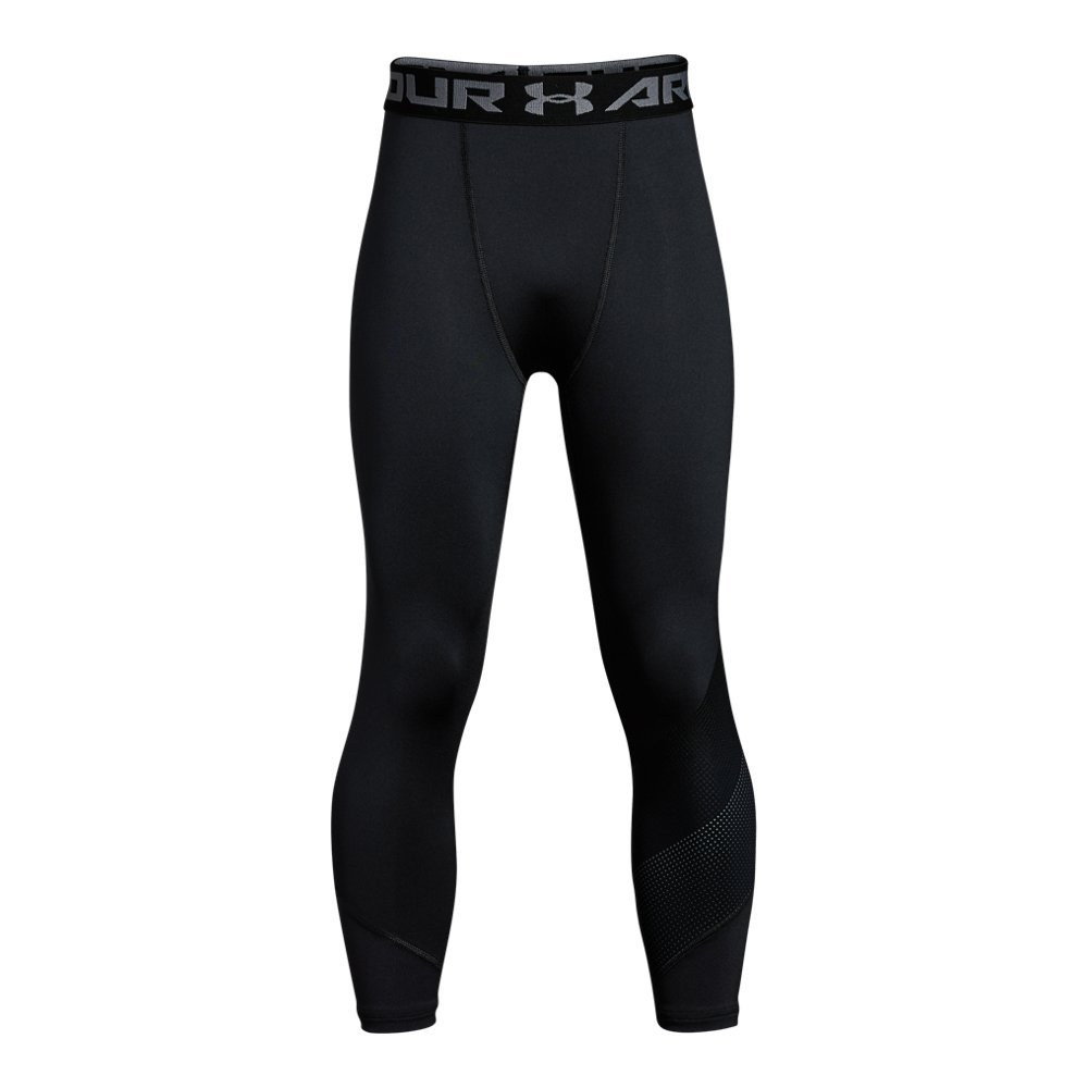 Under Armour Boys' Raid ¾ Leggings, Black (001)/Graphite, Youth X-Small