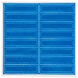 (Pack of 16) Troy Safety Adhesive Vinyl Retro-Reflective Hard Hat/Helmet Sticker, 1'' Length x 4'' Width x 0.014'' Thickness, Blue
