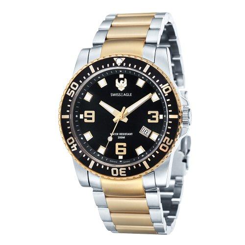 Swiss Eagle Men's SE-9007-66 Silver Stainless-Steel Swiss Quartz Watch