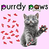 Purrdy Paws 100-Pack Soft Nail Caps for Cat Claws HOT Pink Medium