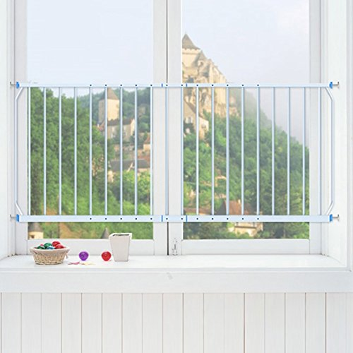 Safety Protect Window Balcony Guards Guardrail Fence Baby Children Protective Net Metal High-rise,165-230cm, Height 77cm -