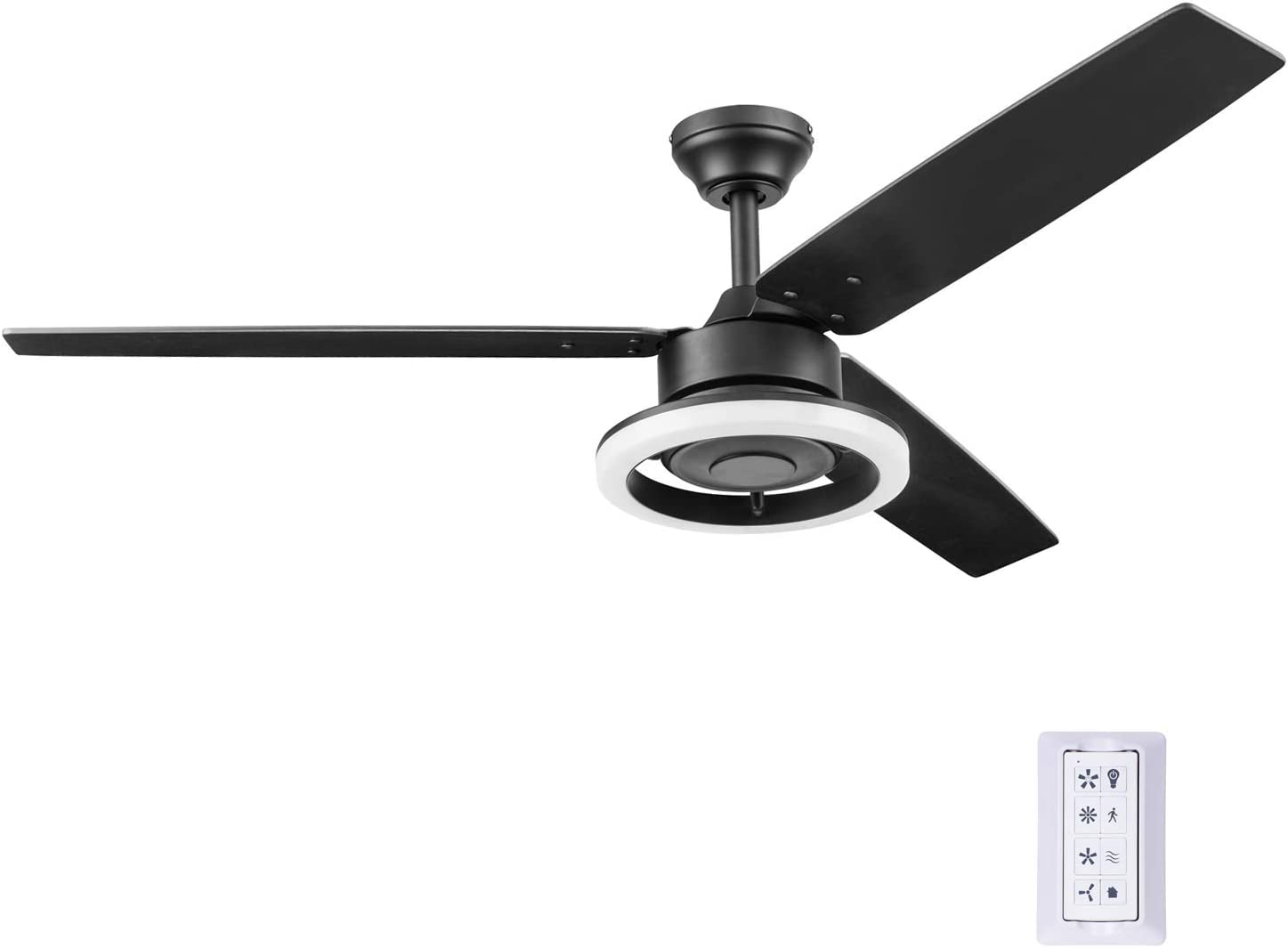 Prominence Home 51461-01 Orbis Ceiling Fan, 52, Matte Black