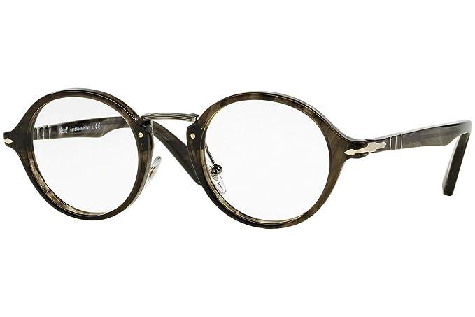 030dd000a9f6 Persol PO3128V Eyeglasses 44-22-145 Striped Gray 1020 PO3128: Amazon ...