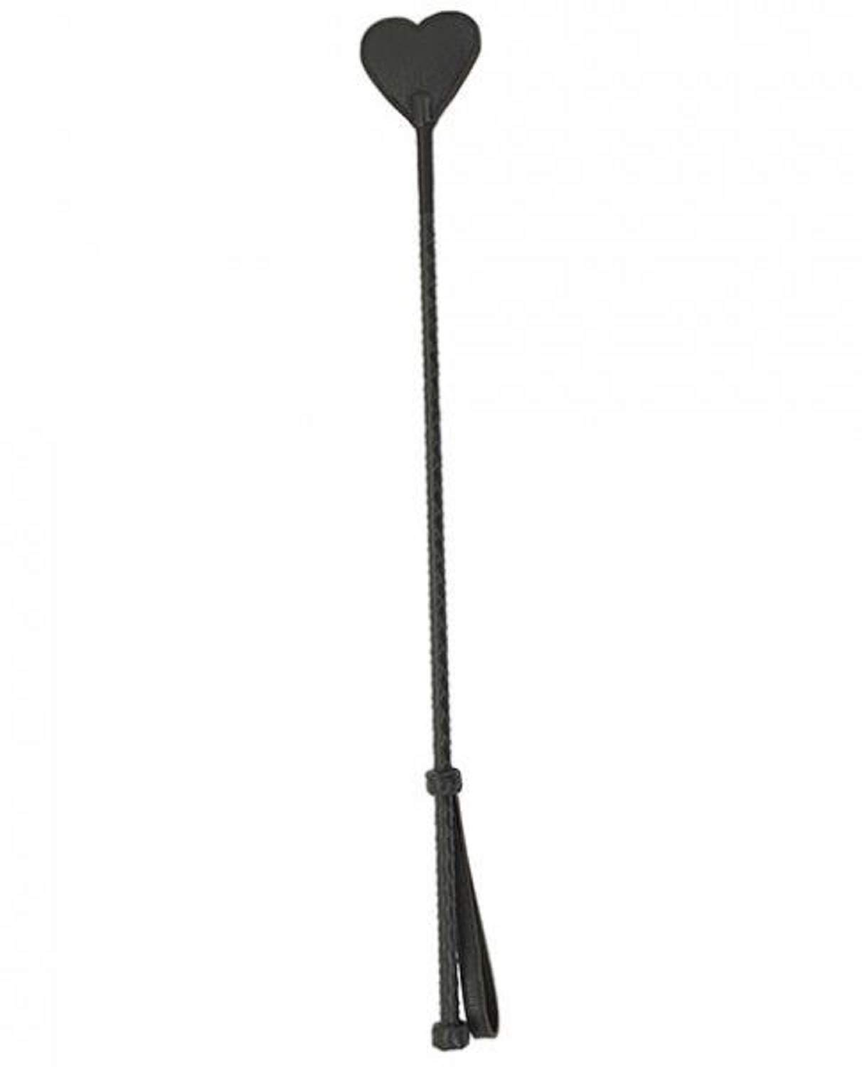 Spartacus Heart Riding Crop Brown Leather by Spartacus