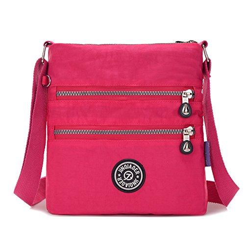 Impermeable Bolsas Bolsas Deporte Bandolera Bolso Rojo Mujer Pequeña de Ligero Casual Escuela Bolsos Viaje de de Bolsos 2 Moda Tablet Outreo para 6R8zzW