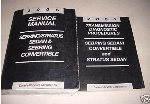 2005 Chrysler Sebring Dodge Stratus Service Manual Set (service manual, and the transmission diagnostics procedures manual.)