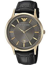 Men's Quartz Stainless Steel Casual Watch, Color:Black (Model: AR11049)
