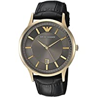 Emporio Armani Men's Quartz Stainless Steel Casual Watch, Color:Black (Model: AR11049)