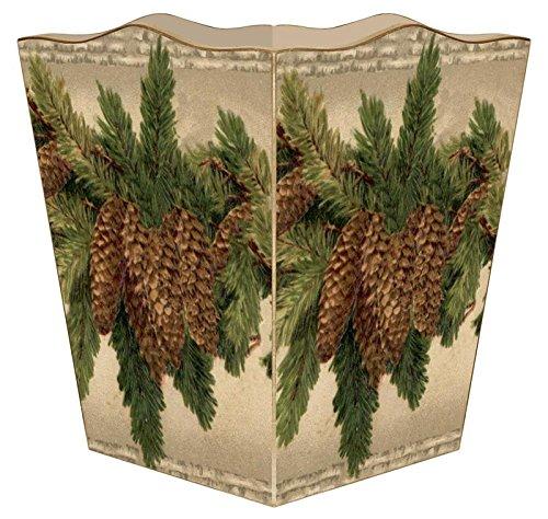 (Marye-Kelley WB2609 - Vintage Pinecone Wastepaper Basket)