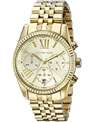 Michael Kors Womens Lexington Gold-Tone Watch MK5556