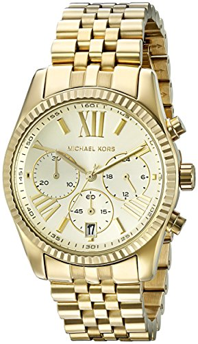 Michael Kors Women's Lexington Gold-Tone Watch MK5556
