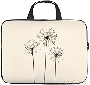 "Neoprene Sleeve Laptop Handbag Case Cover Black Dandelions 10 Inch Laptop Sleeve Case for 9.7"" 10.5"" Ipad Pro Air/ 10"" Microsoft Surface Go/ 10.5"" Samsung Galaxy Tab"
