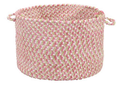 Blokburst Tea Party Pink Utility Basket by Colonial Mills