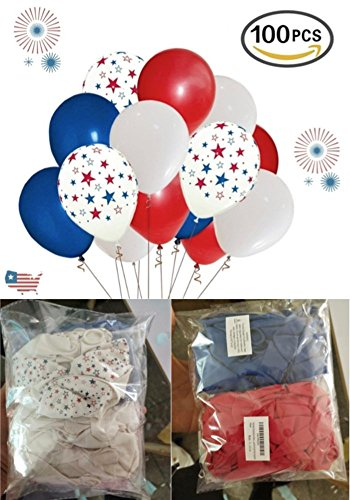 Cheap  Patriotic Decorations Star Latex Balloons 12