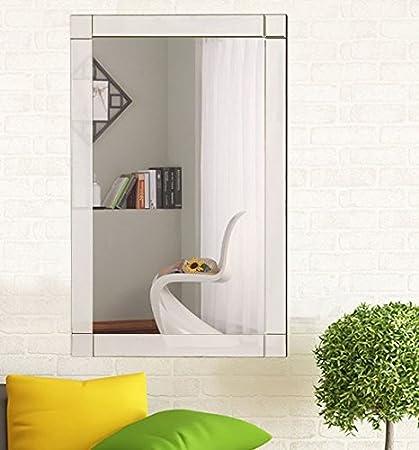 Amazon.com: K&A Company Mirror Wall Vanity Bathroom Decor Beveled ...