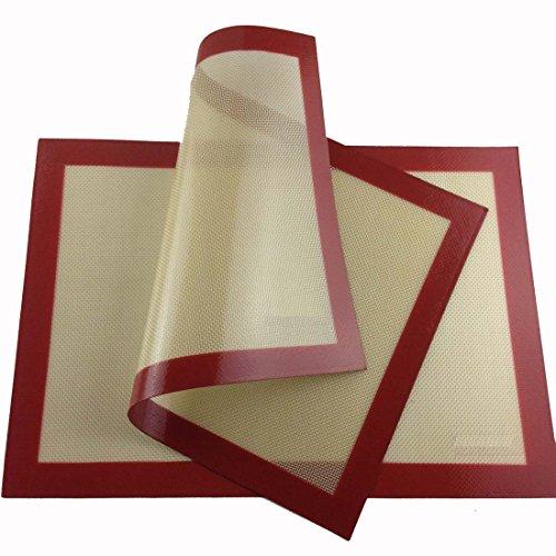 Professional Grade Nonstick Silicone Liner Bake Mat For Bake Pans Set Of 2 Half Sheet (11 5/8