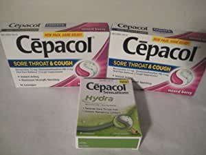 Amazon.com: Cepacol Sore Throat & Cough, Maximum Strength ...