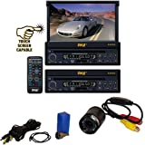 "Vehicle Receiver and Rear View Camera Package – PLTS73FX 7"" Single DIN In-Dash Motorized Touch Screen Digital TFT/LCD Monitor w/ DVD/CD/MP3/MP4/USB/SD/AM-FM Radio Player – PLCM22IR Flush Mount Rear View Camera w/ 0 Lux Night Vision for Car, Van, Truck, Bus, Mobile etc. Review"