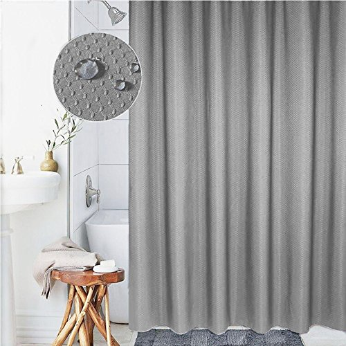 Curtain Polyester Fabric 72''X80'' Mildew-Free Water-Repellent Non Toxic, Eco-Friendly, No Chemical Odor, Rust Proof Grommets Plastic Hooks (Polyester Curtain)