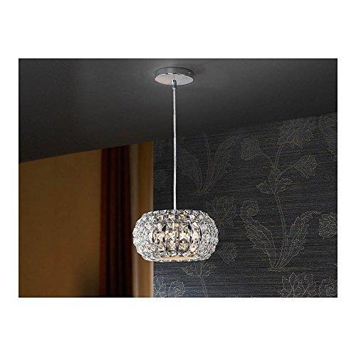 Schuller Spain 507413I4L Modern, Art Deco Chrome Open Oval Ceiling Pendant 3 Light Dining Room, Living Room LED | ideas4lighting by Schuller