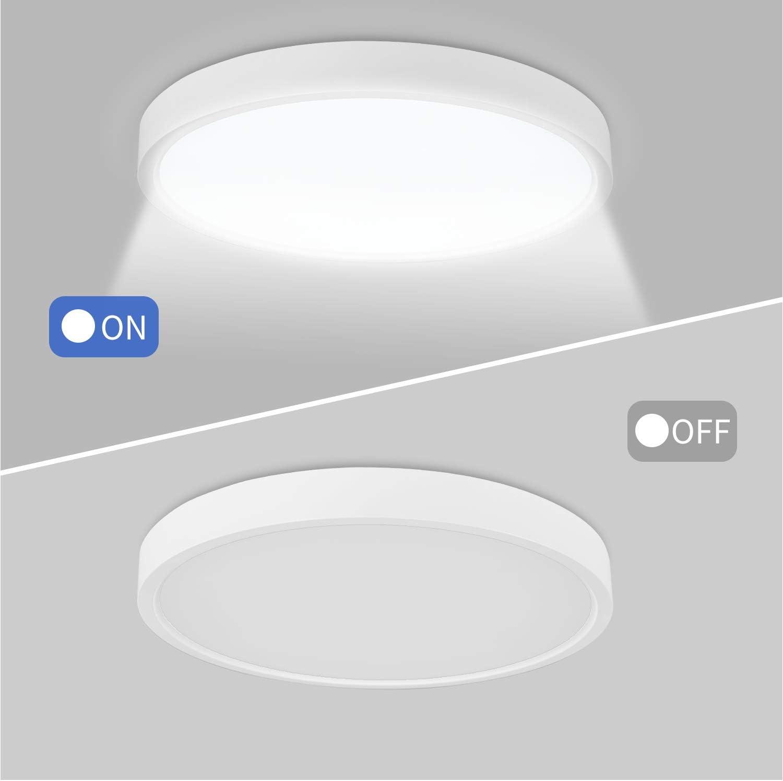 Camera da Letto /Ø30cm Corridoio IP40 Cantina Anten Dimmerabile Plafoniere da Soffitto 24W 2400LM LED Lampada Tondo Sottile Plafoniera per Cucina Bagno Ufficio