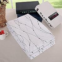 Deconovo Transparent Curtains Wave Line with Dots Linen...