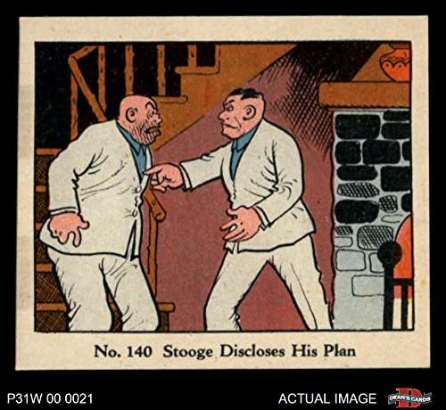 1931 Johnson Candy Dick Tracy R41# 140 Stooge Discloses His Plan (Card) Dean's Cards 8 - NM/MT 1509336
