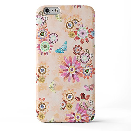 Koveru Back Cover Case for Apple iPhone 6 Plus - Flower and Butterfly