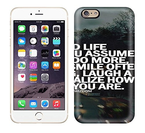 Fashion Tpu Case For Iphone 6- A Good Life Is When You Assume Nothing,do More Need Less,smile Often,dream Big, Laugh A Lot And Realize How Blessed You Are. Defender Case Cover