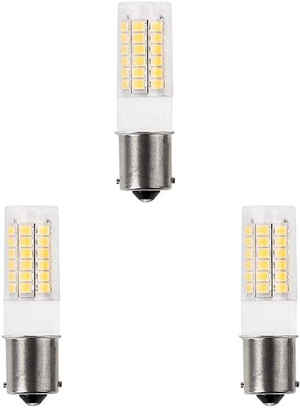1 Pack 3-Watt, Warm White DengTA 1004 1142 1076 BA15D LED Replacement Bulbs for Marine Boat Navigation Anchor Stern Lights and RV Lights 2 Bottom Contacts Bayonet Base