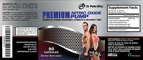 HUGE JANUARY CLEARANCE -Best Nitric Oxide Booster WITH L-Arginine Supplement, Boost Your Performance, Build Muscle,Great Workout Endurance + Muscle Pump,Lower Blood Pressure