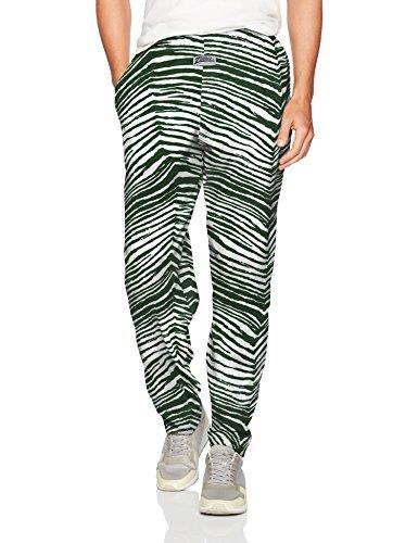 Zubaz Men's Standard Classic Zebra Printed Athletic Lounge Pants, Green/White, S ()