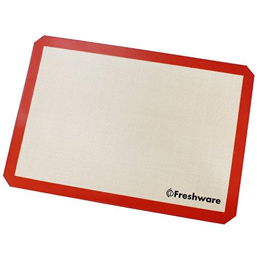 Freshware Silicone Non-Stick Baking Mat, Big (2/3) Size, 19.5 x 13.6 inch, BM-103 by Freshware