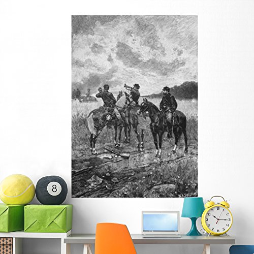 (Wallmonkeys Vintage Civil War Print Wall Mural Peel and Stick Graphic (60 in H x 42 in W) WM171172)