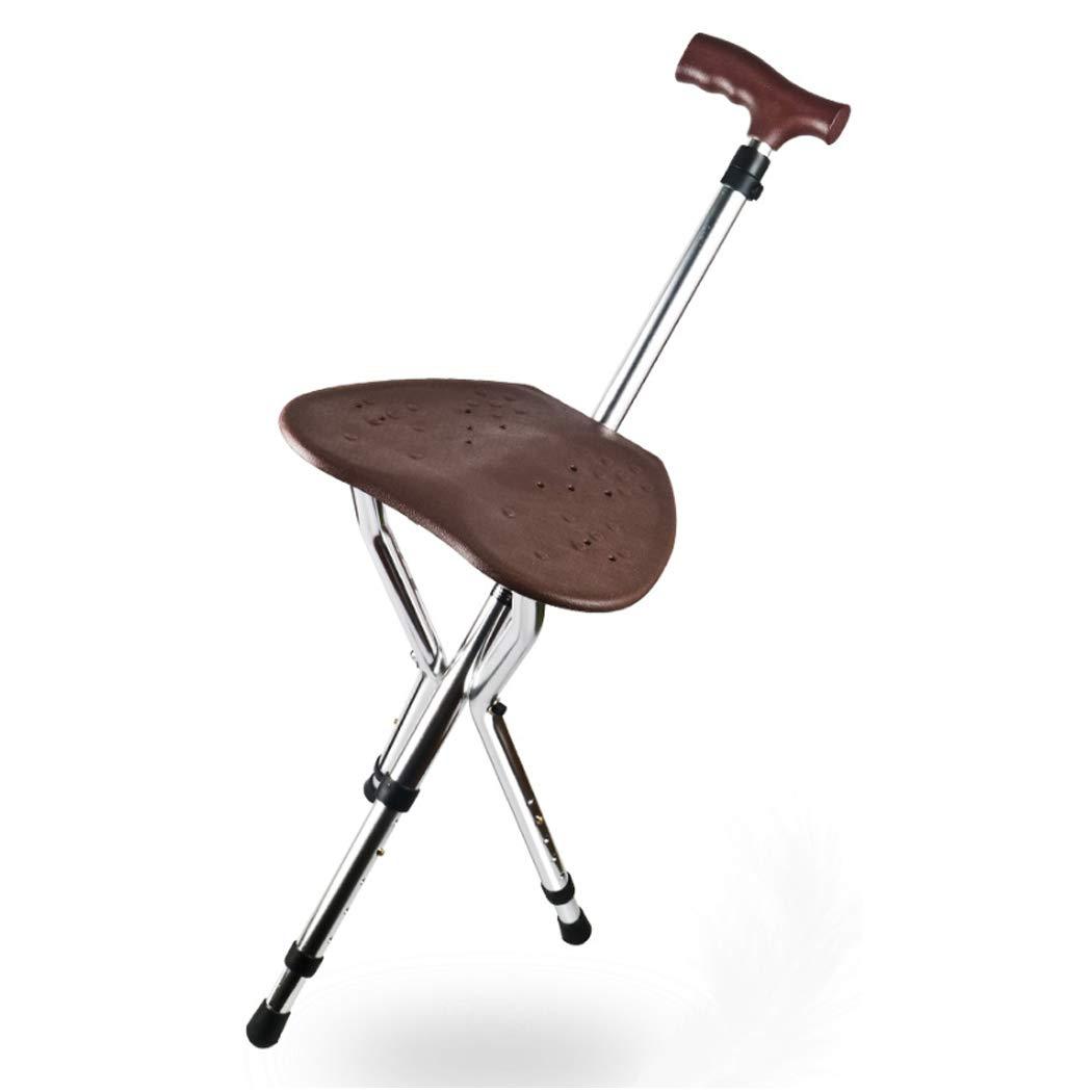★大人気商品★ YGUOZ 杖椅子 YGUOZ 折りたたみ 障害のある人に適しています、ステッキ椅子とLED懐中電灯、携帯型 ステッキ 5 ステッキ、杖、杖 5 高さ調節可能,brown brown B07P6BJZYH, 正規店仕入れの:2bb3211d --- a0267596.xsph.ru