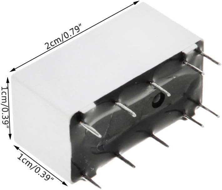 ZJL220 Bistabiles 5-V-Spulen-Verriegelungsrelais DPDT 2A 30 VDC 1A 125 VAC HFD2 005-S-L2-D Realy