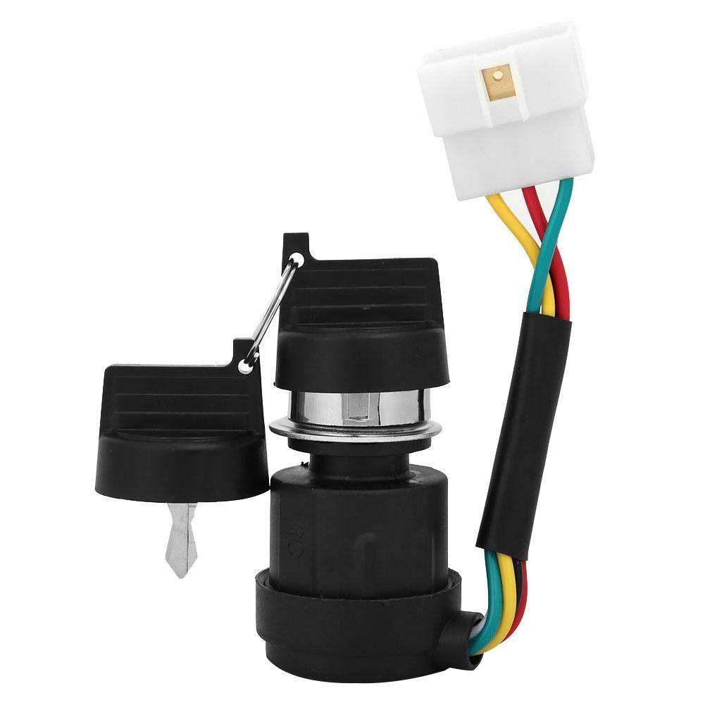 sostituire per barra del motore diesel 178F//186F interruttore di accensione a avviamento elettrico con 5 chiavi a 2 fili Interruttore a chiave di accensione accessori per generatore di gas