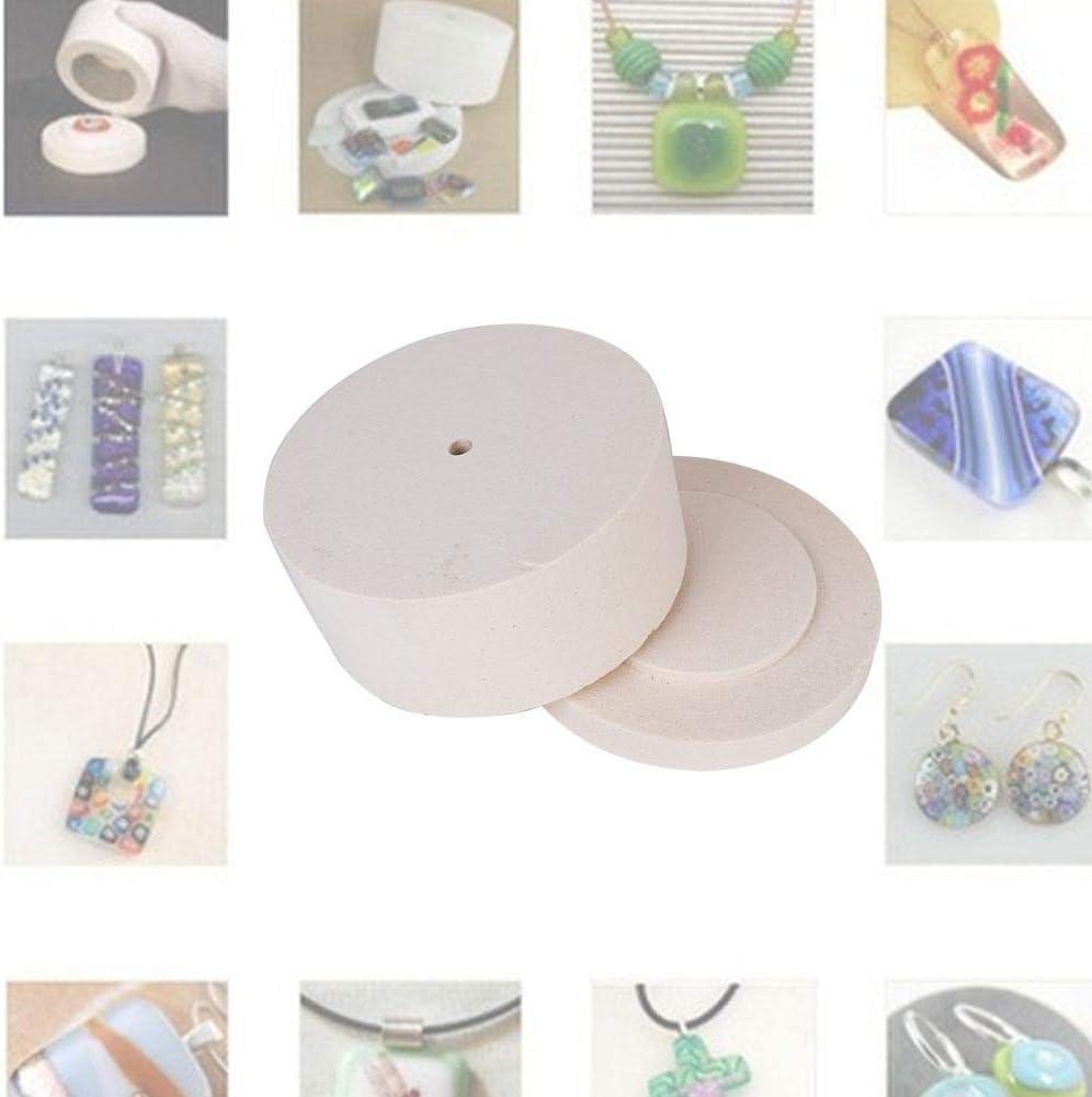 Ceramic Fiber Durable Arts Crafts Fusing Glass Kilns Microwave Kiln Set Simple Making Sewing DIY Jewelry Tools Glass Kilns Kit 900℃ 5 Minutes Heating for Lampwork Glass Art Processing S
