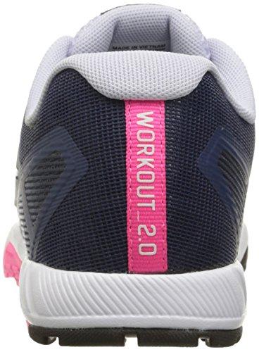 Reebok Frauen Ros Workout TR 2-0 Cross-Trainer Schuh Blaue Tinte / Collegiate Navy / Lucid Flieder / Poison Pink / Schwarz / Zinn