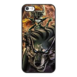 Wunatin Hard Case ,iPhone 5 5S Cell Phone Case Black Legend of Zelda Twilight Princess [with Free Tempered Glass Screen Protector]5691265307819