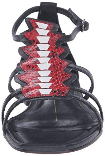 Lola Cruz Women's Flat Fringe Sandal Rojo tVU4bBYy