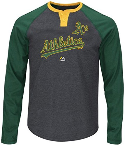 (VF Oakland A's MLB Mens Ready to Go Long Sleeve Raglan Shirt Size 5XT)