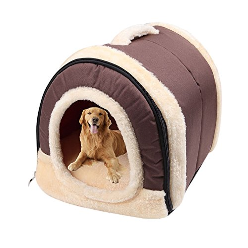 Pet Dog Bed House Kennel Dual-Use Mat Pad Warm Washable Puppy Soft Cushion