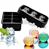Silicone Ice Cube & Ball Tray Set (2 Pack)