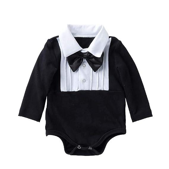 Liyukee - Bebé Niños Collar Bodies Ropa con Pajaritas, 0-2 ...